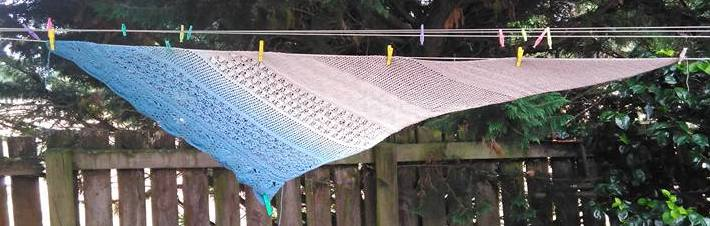 A Day at the Beach Shawl Large