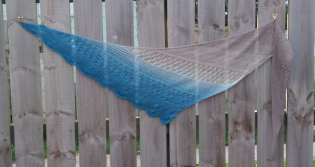 A day at the beach Triangle Shawl
