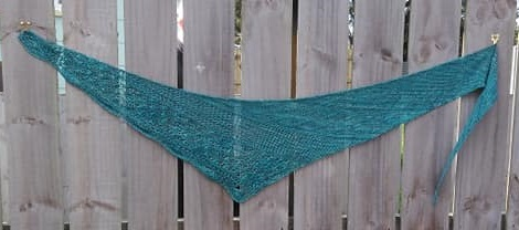 100 gm a day at the beach triangle shawl