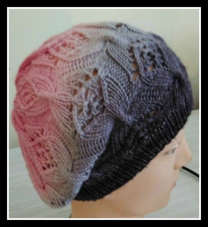 Butterfly bows Beret PDF Knitting Pattern