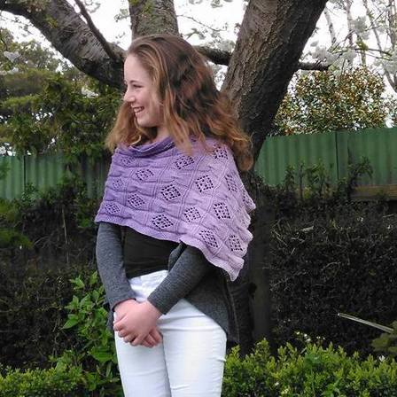 Butterfly Bows Wrap PDF Knitting Pattern