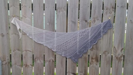 A Day at the beach Shawl Med size